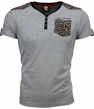 David Mello Camisetas - Tiger Motif - Gris