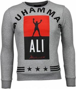 Local Fanatic Sudaderas - Muhammad Ali Boxing Sudaderas hombre - Gris