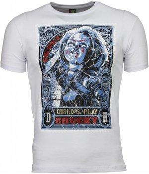 Mascherano Camisetas - Chucky Poster Print - Blanco