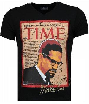 Local Fanatic Camisetas - Malcolm X Camisetas Personalizadas - Negro