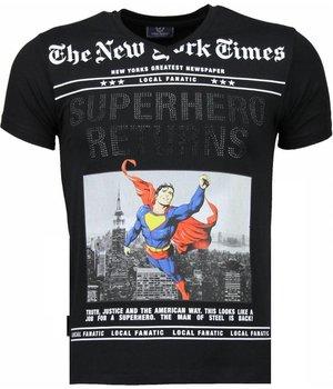 Local Fanatic Camisetas - SuperHero Returns Camisetas Personalizadas - Negro