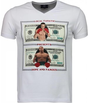 Local Fanatic Camisetas - Golden Boy vs Iron Mike  Camisetas Personalizadas - Blanco