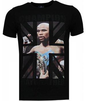 Local Fanatic Camisetas - Mayweather Rhinestone Camisetas Personalizadas - Negro