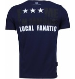 Local Fanatic Camisetas - Kim Kardashian Rhinestone Camisetas Personalizadas - Azul