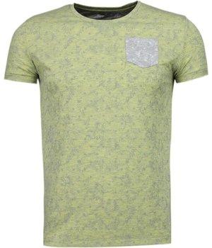 Black Number Camisetas - Patrón de la Hoja Verano - Amarillo