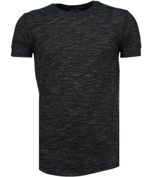 Tony Brend Camisetas - Sleeve Ribbel - Negro