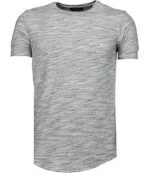 Tony Brend Camisetas - Sleeve Ribbel - Gris