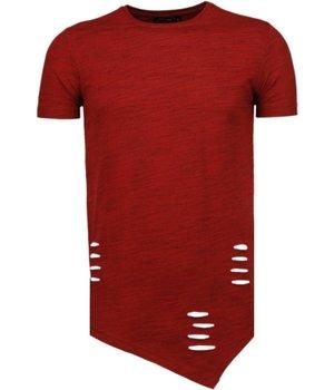 Tony Brend Camisetas - Sleeve Ripped - Rojo