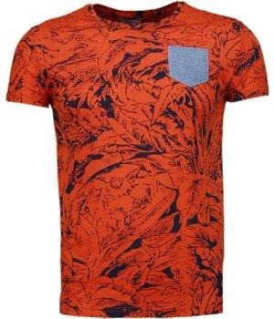 Black Number Camisetas - Forrest Motif - Naranjo