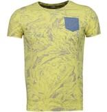 Black Number Camisetas - Forrest Motif - Amarillo