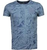 Black Number Camisetas - Forrest Motif - Azul