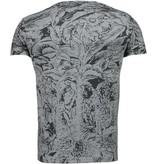 Black Number Camisetas - Forrest Motif - Gris/Negro