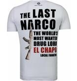Local Fanatic Camisetas - El Chapo Flockprint Camisetas Personalizadas  - Blanco