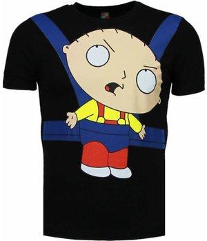 Mascherano Camisetas - Baby Stewie - Negro
