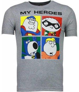 Mascherano Camisetas - Super Family - Gris