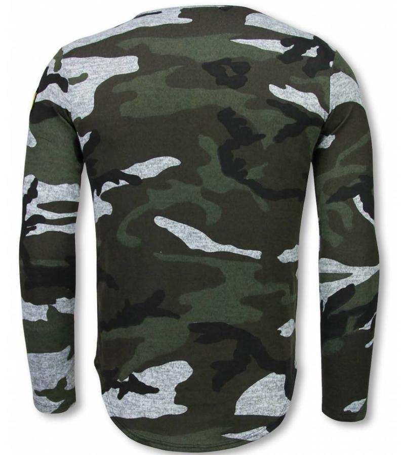 Berry Denim Jersey - Camuflaje Impreso Long Sleeve Jersey hombre - Gris