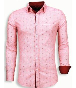 Gentile Bellini Camisas Italianas - Slim Fit Camisas - Rojo