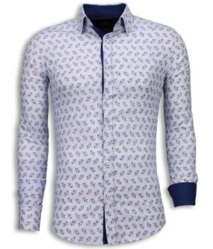 Gentile Bellini Camisas Italianas - Slim Fit Camisas - Modelo De La Margarita - Blanco