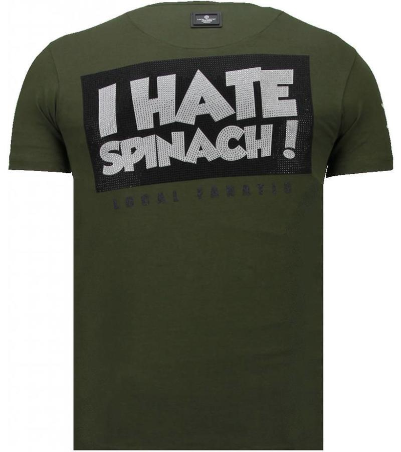 Local Fanatic Camisetas - The Sailor Man Rhinestone Camisetas Personalizadas - Verde