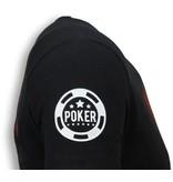 Local Fanatic Camisetas - Poker Tournament Rhinestone Camisetas Personalizadas - Negro