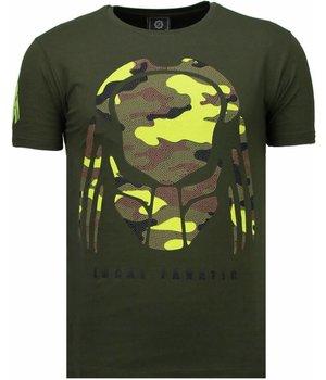 Local Fanatic Camisetas - Predator Rhinestone Camisetas Personalizadas - Verde