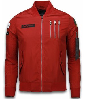 David Copper Abrigos - Bomber Chaquetas Exclusive Eagle Attack Cazadora - Rojo