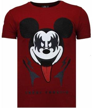 Local Fanatic Camisetas - Kiss My Mickey Rhinestone Camisetas Personalizadas - Burdeos