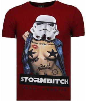 Local Fanatic Camisetas - Stormbitch Rhinestone Camisetas Personalizadas - Burdeos