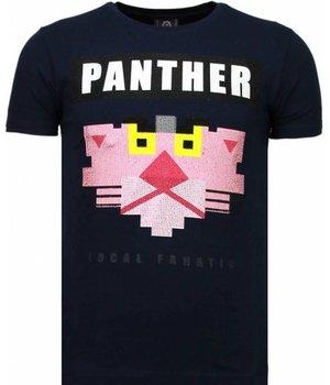 Local Fanatic Camisetas - Panther For A Cougar Rhinestone Camisetas Personalizadas - Azul