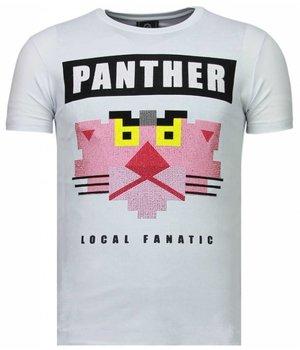 Local Fanatic Camisetas - Panther For A Cougar Rhinestone Camisetas Personalizadas - Blanco