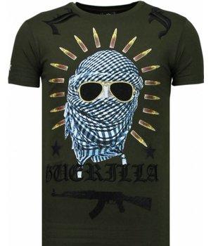 Local Fanatic Camisetas - Freedom Fighter Rhinestone Camisetas Personalizadas - Verde