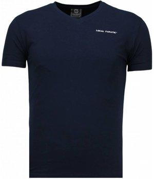 Local Fanatic Camisetas - Basic Exclusive V Neck - Azul