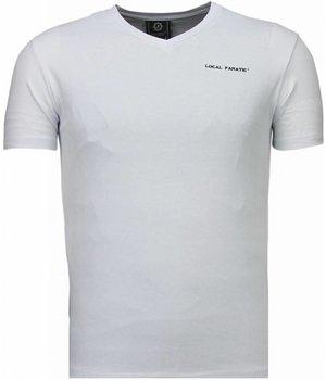 Local Fanatic Camisetas - Basic Exclusive V Neck - Blanco