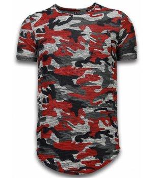 YesNo Camisetas - Assorted Camuflaje LongFit - Burdeos