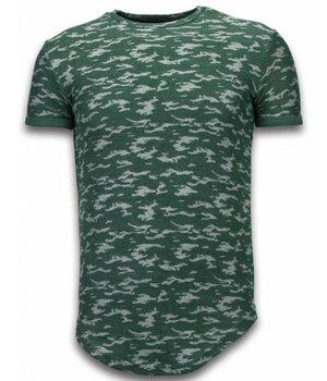John H Camisetas - Fashionable Patron ejercito Long Fit - Verde