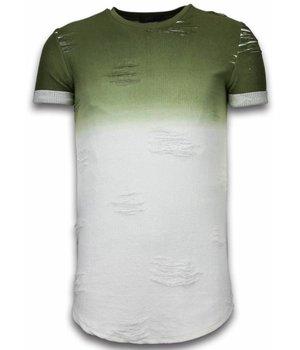 John H Camisetas - Flare Effect de dos colores Long Fit - Verde