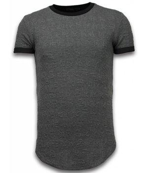 John H Camisetas - 3D Encrypted con cremallera LongFit - Gris