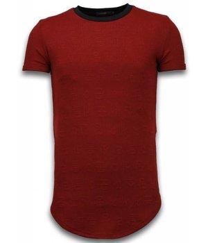 John H Camisetas - 3D Encrypted con cremallera Longfit - Rojo