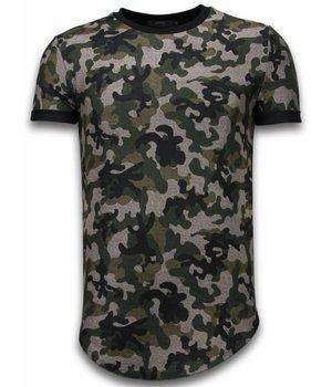 John H Camisetas -  Fashionable Patron Ejercito LongFit - Verde