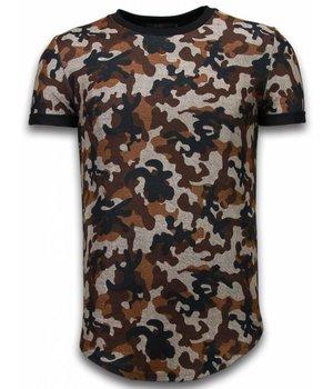 John H Camisetas -  Fashionable Patron Ejercito LongFit - marrón