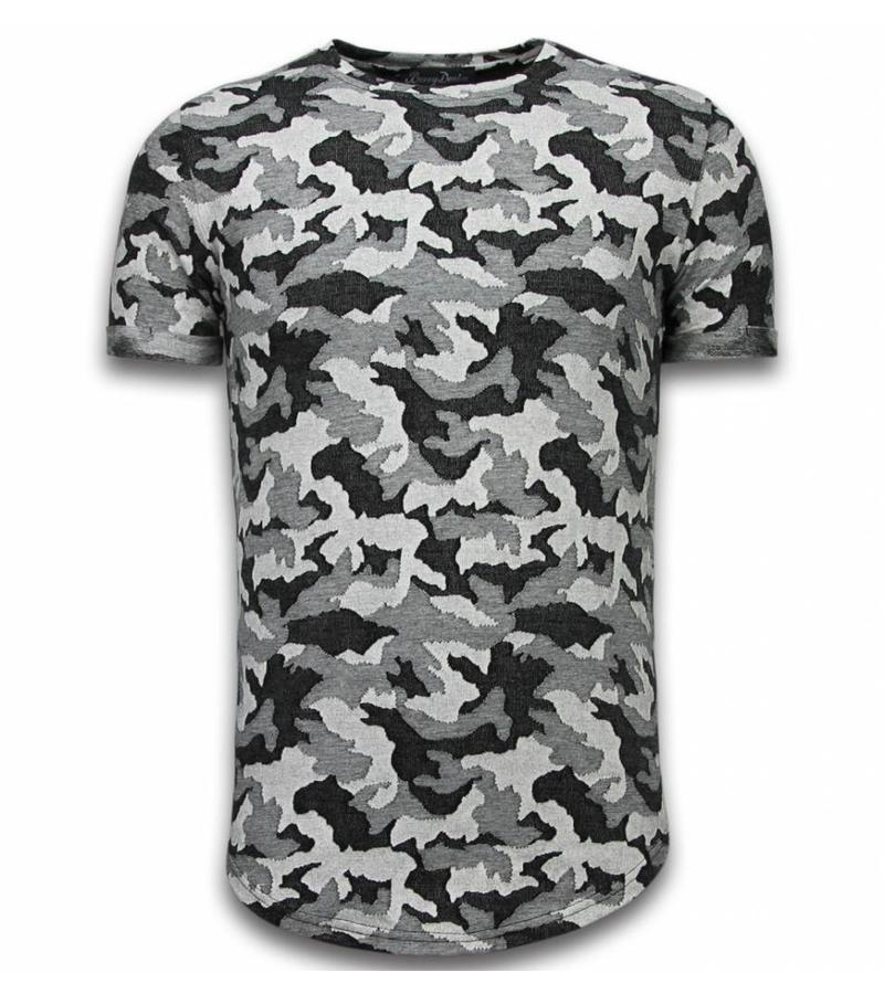 Berry Denim Casual Camouflage Pattern - Camesita Ventilado Slim Fit - Gris