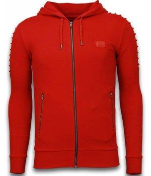 Uniplay Chaquetas - Ribbed Biker Chalecos Hombre - Rojo