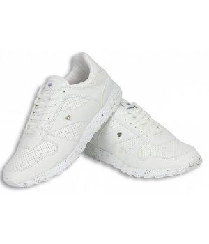 Cash Money Zapatillas - Zapatos para hombre Low White Runners - Blanco