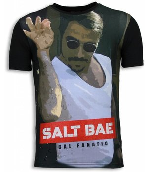 Local Fanatic Camisetas - Salt Bae Digital Rhinestone Camisetas Personalizadas - Negro