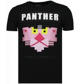 Local Fanatic Camisetas - Panther For A Cougar Rhinestone Camisetas Personalizadas - Negro