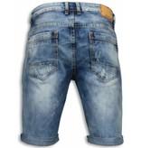 Black Ace Pantalones Cortos - Bermudas Hombre Simple Slim Fit - Azul