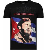 Local Fanatic Camisetas - Che Guevara Comandante Rhinestone Camisetas Personalizadas - Negro