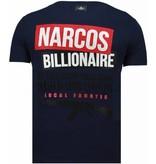 Local Fanatic Camisetas - El Patron Narcos Billionaire- Rhinestone Camisetas - Azul