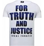 Local Fanatic Camisetas - Captain Duck - Rhinestone Camisetas - Blanco