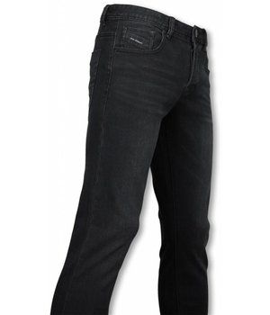 Orginal Ado Exclusivo Básicos Vaqueros - Regular Fit Casual 5 Pocket - Negro